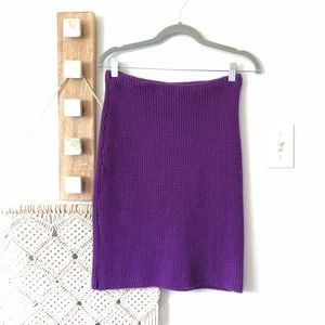 Vintage Betsey Johnson Purple Punk Label 80s Skirt